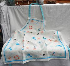 Nautical Design Bib Style Apron - Home Baking - Shabby Chic - BNIB