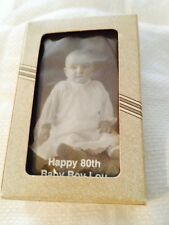 """Vtg Liberty Specialty Playing Cards In Box & Cello Wrap """"Happy 80th Baby Boy Lou"""