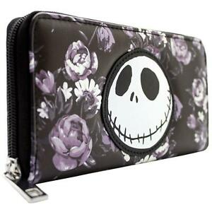 NEW OFFICIAL NIGHTMARE BEFORE CHRISTMAS FLORAL PATTERN COIN & CARD CLUTCH PURSE