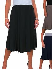 ICE Womens Below Knee Panel Swing Flare Skirt Soft Stretch Fully Lined 8-22