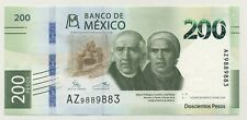Mexico 200 Pesos 30-1-2019 Pick New UNC Uncirculated Banknote 25th Anniv.