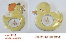 Bomboniera battesimo portafoto cornice in metallo pulcino in due modelli