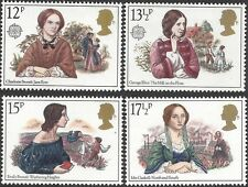 Great Britain 1980 FAMOUS AUTHORESSES Unhinged Mint (4) SG1125-8