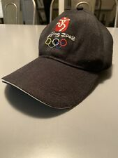 2008 Beijing Olympic Black Strap Back Baseball Cap Hat Rare
