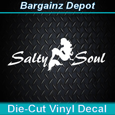 Vinyl Decal ... * SALTY SOUL Mermaid * .. Car Salt Life Laptop Sticker Decal