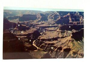 South Rim Grand Canyon Arizona Looking Northwest Fred Harvey Postcard