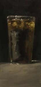 Glass Of Coke Or Diet Coke still life Original Oil Painting