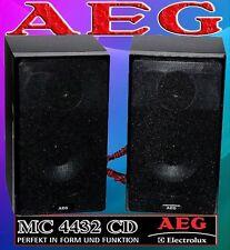 AEG4432 2x Stereo Boxen Stereo Lautsprecher Standboxen Holz Schwarz 100W PMPO 10