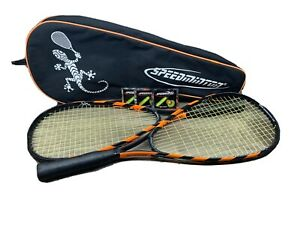 Speedminton S70 Aluminum Badminton Racquets With Case And 3 Speed lights