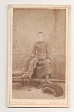 Vintage CDV Helen ch of Marcia Gabb & Charles P. Lewis Williams Photo Monmouth