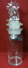 HEISEY crystal 16-ounce MARTINI Mixer Shaker with Rooster Stopper