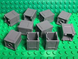 1 2x2 Green Minifigure Trash Can Bricks ~ Lego ~ NEW ~ Castle