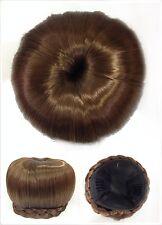 Hair Bun, Perfect Braided, Hair Piece, Medium Copper Brown.