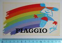 ADESIVO STICKER VINTAGE AUTOCOLLANT AUFKLEBER PIAGGIO ANNI'80 15x9 cm