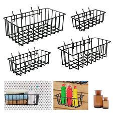 Pegboard Baskets Organize Tools Shelf Storage Box Steel Garage Wall Kit 4 Pack