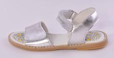 Primigi Fuji Infant Girls Silver Leather Riptape Sandals UK 10 EU 28 RRP £36
