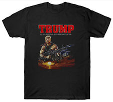DONALD TRUMP T SHIRT FUNNY SLOGAN RAMBO PUN USA AMERICAN PRESIDENT JOKE