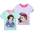 Kids Baby Girl Short Sleeve Cotton T-shirt Tops Cartoon Tee Toddler Clothes PRE