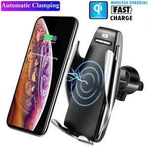 Automatic Clamping Wireless Car Charger Infrared Car Mount For S10 Plus P30 Pro