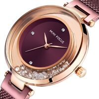 Women's Watch Water Resistant Stainless Steel Mesh Strap Analogue Alloy Quartz