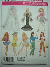 Barbie Doll New Simplicity 4719 Pattern Uncut Bridal Wedding Gown- Andrea Schewe