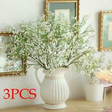 3x Artificial Gypsophila Fake Silk Flowers Baby Breath Bouquet Home Decor White