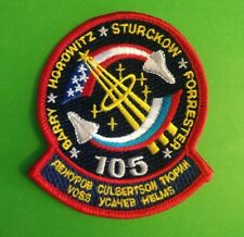 """SPACE SHUTTLE DISCOVERY STS-105  PATCH  4""""   NASA"""