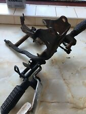 QINGQI QM 125 - 2C FRONT FOOT HANGERS , BRACKETS AND LEVERS