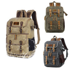 Fashion Camera Backpacks Digital Camera Bag Leather for Canon Nikon D810 Sony A7