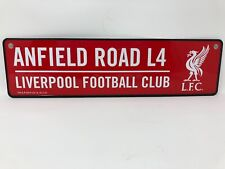 LIVERPOOL COLOUR 3D METAL STREET SIGN OFFICIAL GIFT FATHERS DAY CHRISTMAS LFC L4