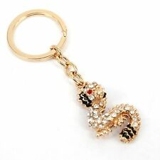 Little Cute Chinese Dragon Crystal Charm Purse Bag Key Chain Party Wedding Gift