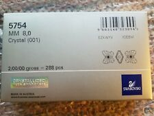 AUTHENTIC Swarovski® Crystal #5754 Butterfly 6mm & 8mm Sealed Factory Packs