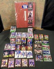 "NY GIants NFL ""Portfolio"" Notebook + 45 Cards / Upper Deck Topps Bowman Chrome+"