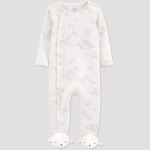 Baby Sheep Footed Pajama - Just One You Made by Carter's White - Select Size