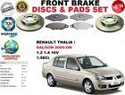 FOR RENAULT THALIA I SALOON LB0/1/2 2000- FRONT BRAKE DISC SET + BRAKE PAD KIT