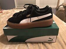 Puma Black Suede Platform Core Shoes Women's 10
