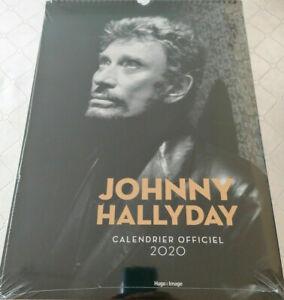 Calendrier mural Johnny HALLYDAY 2020- 40x 30 cms / 24 photos Neuf Emballé