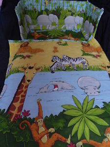 NEW JUNGLE ANIMALS - COT or COT BED bedding set