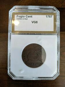 Fugio Cent 1787 - VG8 - very good condition in protective case