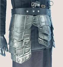 MEDIEVAL GOTHIC Dark Drake Steel TASSET BELT Upper Leg PROTECTOR ARMOR LARP New