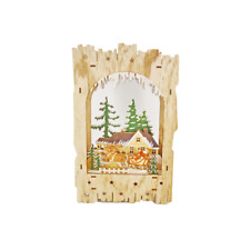 Midwest Lighted Wood Santa in Sleigh Christmas Scene #159896