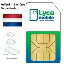 ANONYM Lycamobile Prepaid NL Niederlande Sim Karte Komplete Data nutzbar im EU!