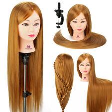 Tête de mannequin Maquillage 30'' Cheveux en fibre pour le Salon Coiffure Poupée