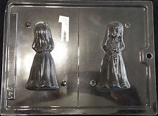 Wedding 3-D Bride Bridesmaid Flower Girl Chocolate Plastic Candy Mold LOP W-43