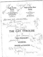 CAST AUTOGRAPHS THE GAY TYROLESE RECITAL PROGRAMME C 1940's KITZBUHEL SINGERS