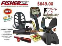Fisher F75 Plus Metal Detector Bundle - Deep Coin & Relic Detector  Ships FREE