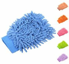 Soft Car Washing Cleaning Dusting Microfiber Chenille Mitt Glove US SELLER