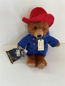 "10"" Classic Paddington Bear Plush Stuffed Animal NEW WITH TAGS 2014 Blue Hat Red"