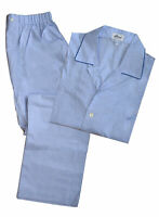 Brioni Men's Solid Light Blue 100% Cotton Pajamas