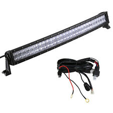 42INCH Curved 5D Lens 240W LED Light Bar+Wiring For 4x4 Truck 4WD Boat SUV ATV